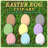 Clip Art: Easter Eggs in Pastel Colors