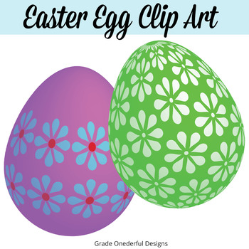 Easter Eggs Clipart, Decorated Eggs Clip Art