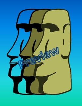 Clip Art: Easter Island Heads