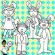 Clip Art~ Easter Kids