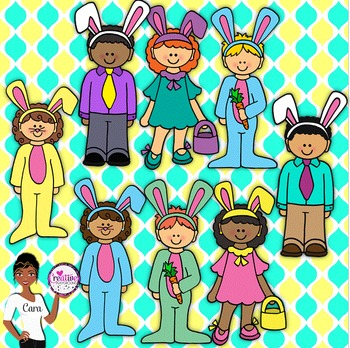 Clip Art~ Easter Kids