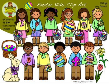 Clip Art: Easter Kids - Huge Set!