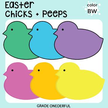 Clip Art: Easter Peeps, Easter Bunny, Easter Chick