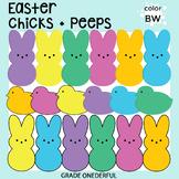 Easter Peeps Bunnies Chicks Clip Art
