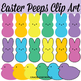 Easter Peeps Bunnies Chicks Clip Art