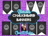 Editable Chalkboard Banners