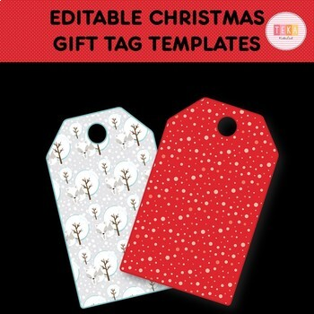 Clip Art: Editable Christmas Gift Tag Templates [TeKa Kinderland]