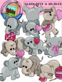 Clip Art: Elephants 'n Hearts