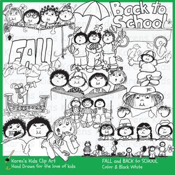 Clip Art FALL KIDS