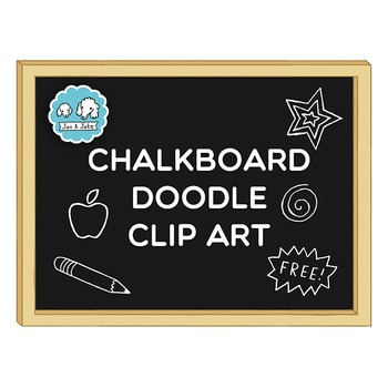 Clip Art: FREE Back to School Chalkboard / Blackboard Doodle Set