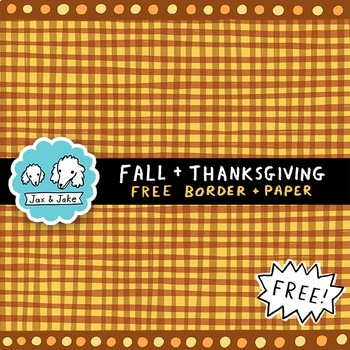 Clip Art: FREE Fall and Thanksgiving Colors Border and Digital Paper