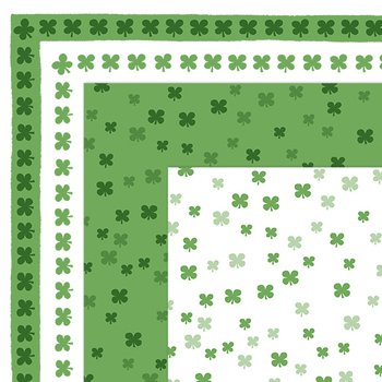 Clip Art: FREE St. Patrick's Day Shamrock  Borders and Digital Papers