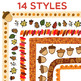 Clip Art: Fall / Autumn Border Set - Borders for Personal and Commercial Use