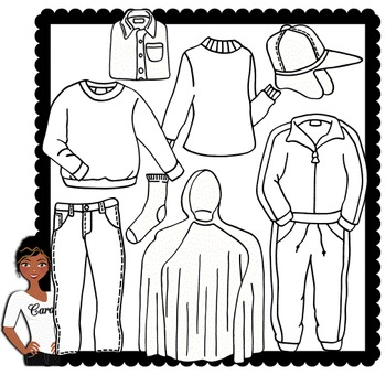 Clip Art~ Fall / Autumn Clothing