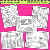 Clip Art Fall Coloring Pages