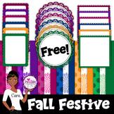 Clip Art~ Fall Festive Design Kit Freebie!