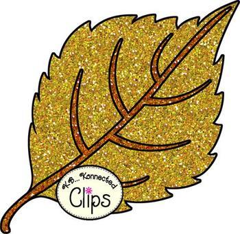 Clip Art - Fall Glitter Leaves