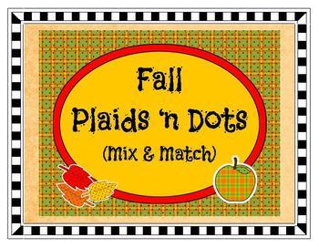 Clip Art - Fall Plaid 'n Dots Mix & Match Collection