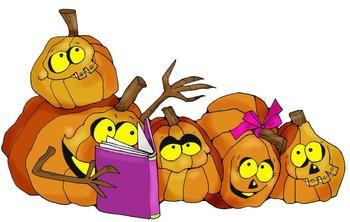 Clip Art: Fall Pumpkin Readers and Writers by HeatherSArtwork