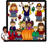 Clip Art~ Fall Season Kids