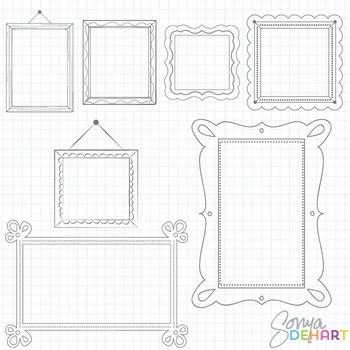 Frames -  Fancy Doodles Clipart