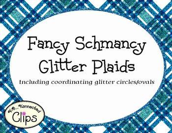 Clip Art - Fancy Schmancy Glitter Plaid Paper Collection