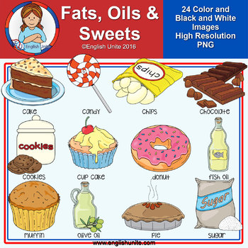 Clip Art - Fats, oils and sweets