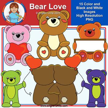 Clip Art - February Freebie (Bear Love)