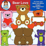 Clip Art - February Freebie (Bear Love)