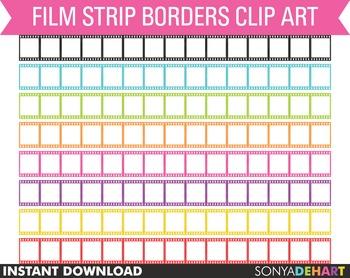 Borders - Film Strip Clipart