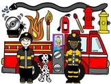 Clip Art~ Fire Prevention Kids