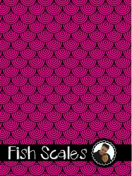 Clip Art~  Fish Scales Paper Collection