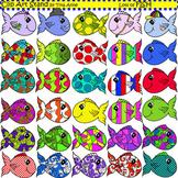 Clip Art Fish in color
