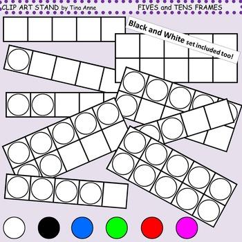Clip Art Fives and Tens Frames