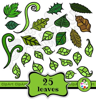 Clip Art Flowers & Leaves Nature Mega Pack