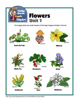 Clip Art Flowers Unit 1