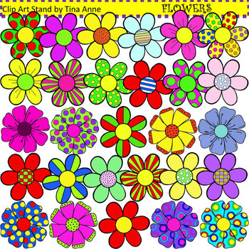Clip Art Flowers in color