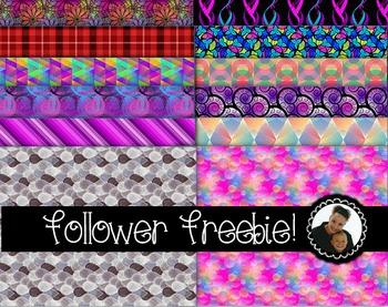 Clip Art~ Follower Freebie! Digital Paper Collection