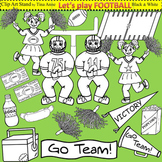 Clip Art Football in black and white