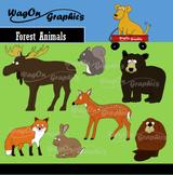 Clip Art: Forest Animals