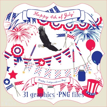 Clip Art: Fourth of July Digital Pack