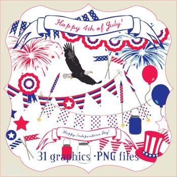 Clip Art: Fourth of July Digital Pack