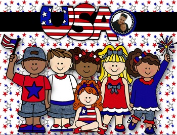 Clip Art~ Fourth of July Kiddos (4th of July)