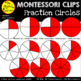 Clip Art: Fraction Circles (in red, B&W, and transparent)