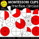 Clip Art: Fraction Circles (Montessori Inspired)