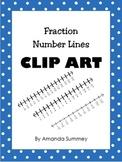 Clip Art - Fraction Number Lines