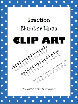 Clip Art - Fraction Number Lines
