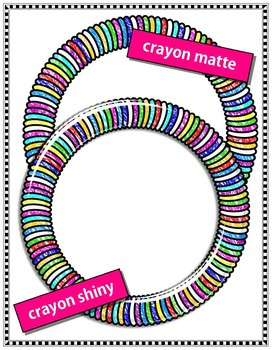Clip Art Frames - Crayon, Shiny, and Matte!