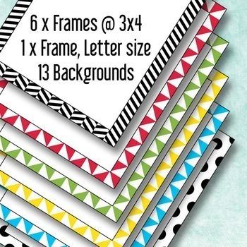 Mason Jar Clip Art: Kit with Frames, Papers, Mason Jars and Clip Art