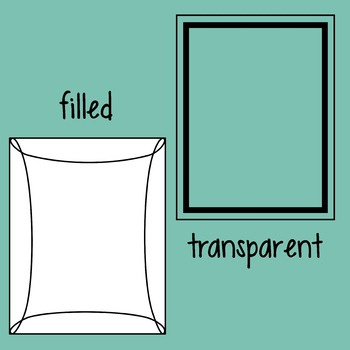 Frames / Borders Freebie - Sample of Simple Shapes Frames